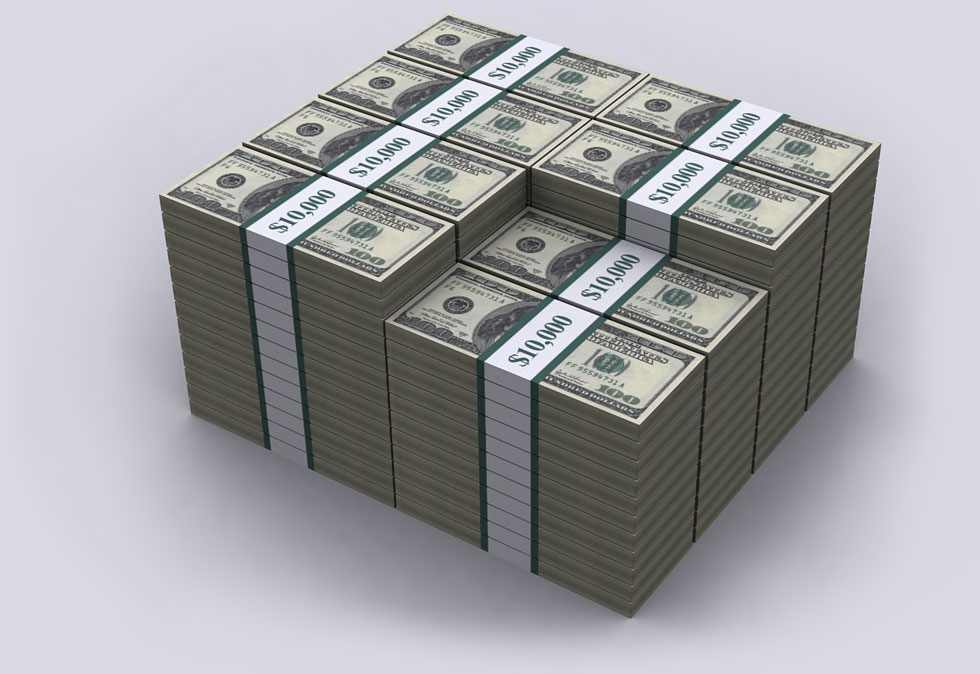 بدهی های آمریکا در مقیاس صد دلاری
