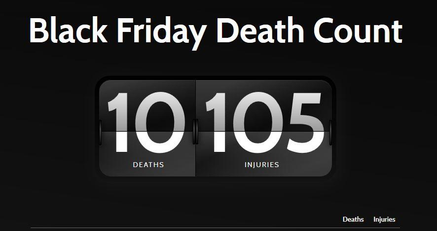 تعداد کشته شدگان جمعه سیاه خرید
