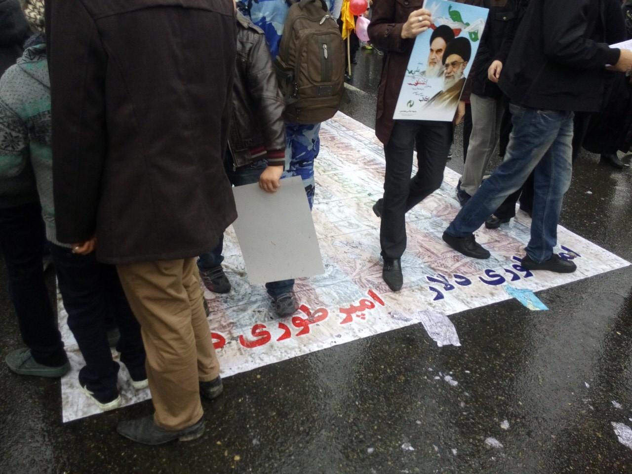 تصویر از فعالیتهای جنبش در سالروز انقلاب اسلامی