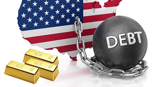تصویر از بدهی دولتی: آمریکا سالی ۸ تریلیون دلار قرض میگیرد.