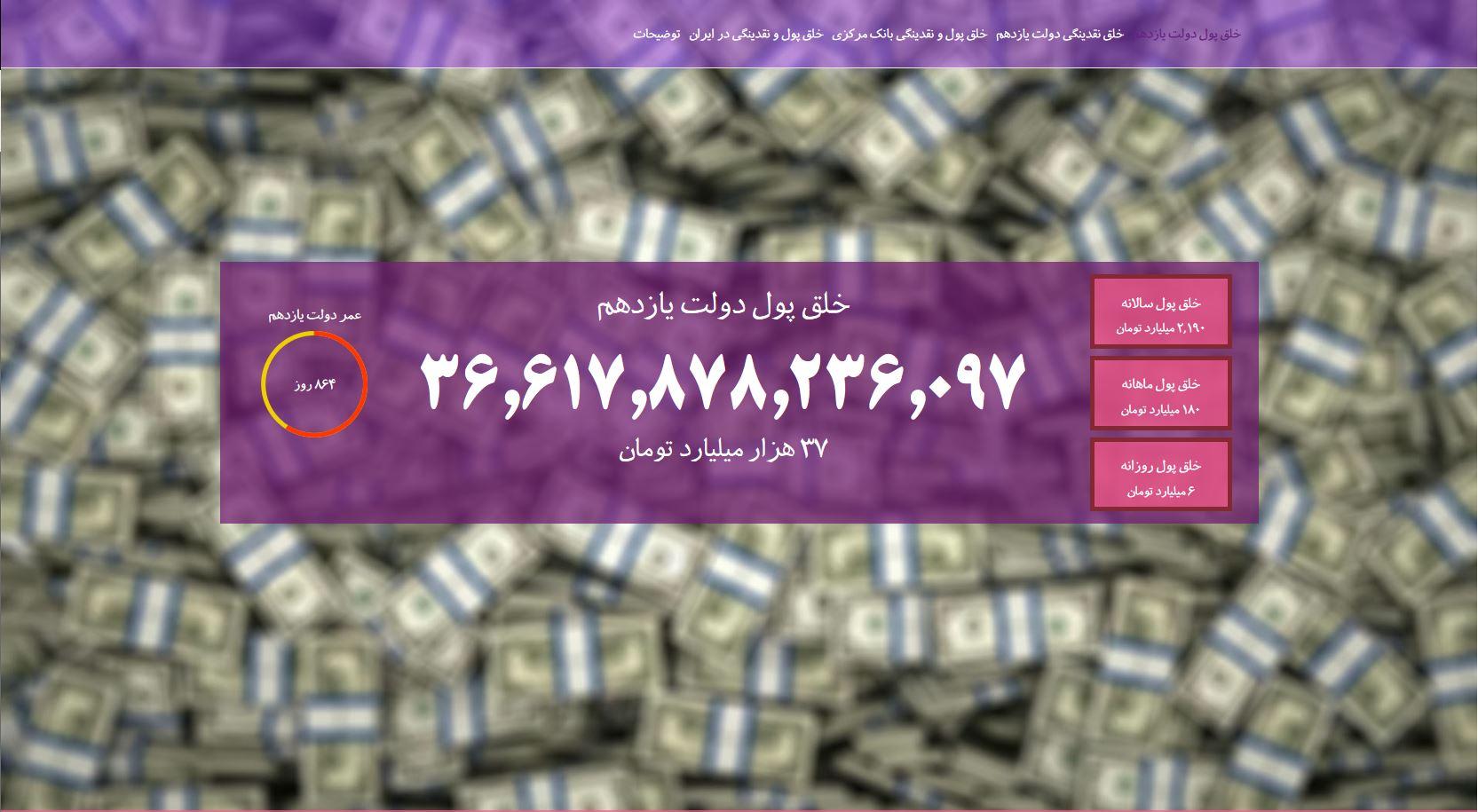 تصویر از افتتاح پایگاه ساعت خلق پول ایران