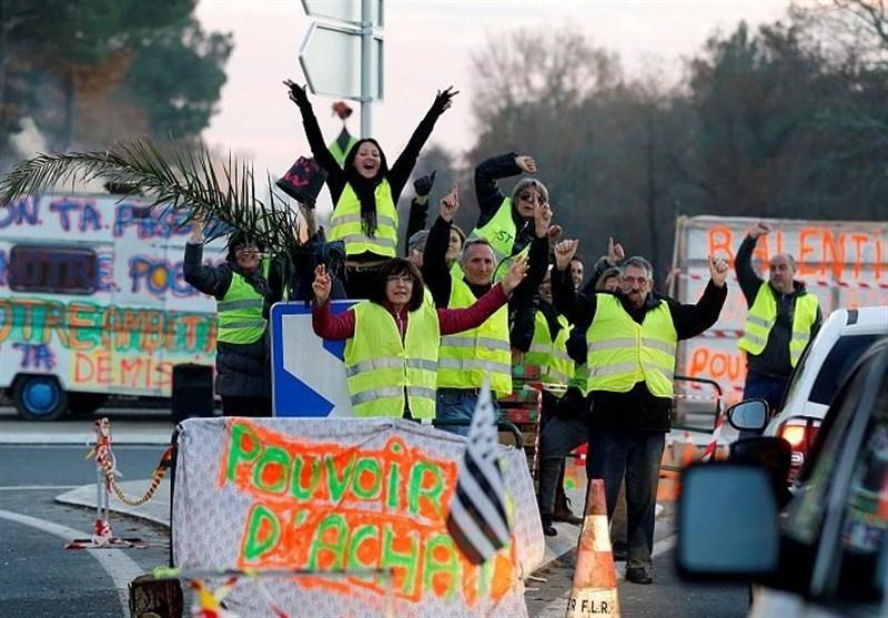 تصویر از جلیقه زردهای فرانسه به دنبال حذف ربا و بانک !
